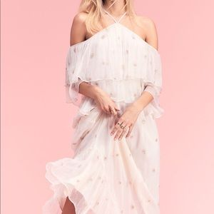 Free People Mila cold shoulder Maxi dress